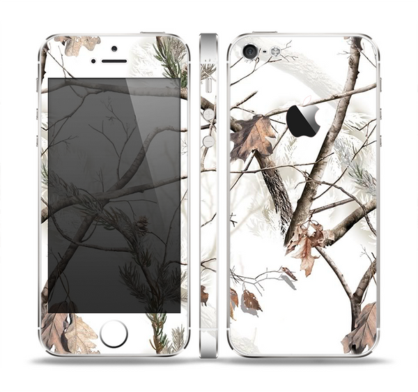 The Real Winter Camouflage Skin Set for the Apple iPhone 5
