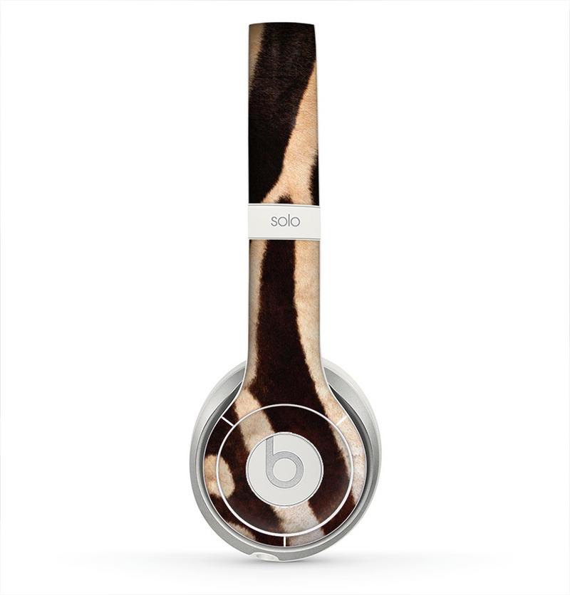 The Real Zebra Print Texture Skin for the Beats by Dre Solo 2 Headphones