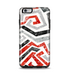 The Red-Gray-Black Abstract V3 Pattern Apple iPhone 6 Plus Otterbox Symmetry Case Skin Set