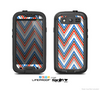 The Red-White-Blue Sharp Chevron Pattern Skin For The Samsung Galaxy S3 LifeProof Case