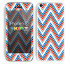 The Red-White-Blue Sharp Chevron Pattern Skin for the Apple iPhone 5c