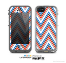 The Red-White-Blue Sharp Chevron Pattern Skin for the Apple iPhone 5c LifeProof Case
