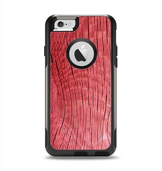 The Red-Wood with Yellow Knot Apple iPhone 6 Otterbox Commuter Case Skin Set
