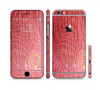The Red-Wood with Yellow Knot Sectioned Skin Series for the Apple iPhone 6