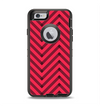 The Red & Black Sketch Chevron Apple iPhone 6 Otterbox Defender Case Skin Set