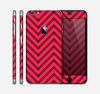 The Red & Black Sketch Chevron Skin for the Apple iPhone 6 Plus