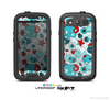 The Red & Blue Abstract Shapes Skin For The Samsung Galaxy S3 LifeProof Case