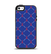 The Red & Blue Seamless Anchor Pattern Apple iPhone 5-5s Otterbox Symmetry Case Skin Set