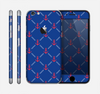 The Red & Blue Seamless Anchor Pattern Skin for the Apple iPhone 6