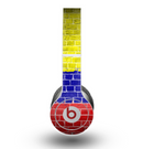 The Red, Blue and Yellow Vibrant Brick Wall Skin for the Beats by Dre Original Solo-Solo HD Headphones