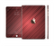The Red Diagonal Thin HD Stripes Full Body Skin Set for the Apple iPad Mini 3