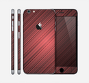 The Red Diagonal Thin HD Stripes Skin for the Apple iPhone 6 Plus