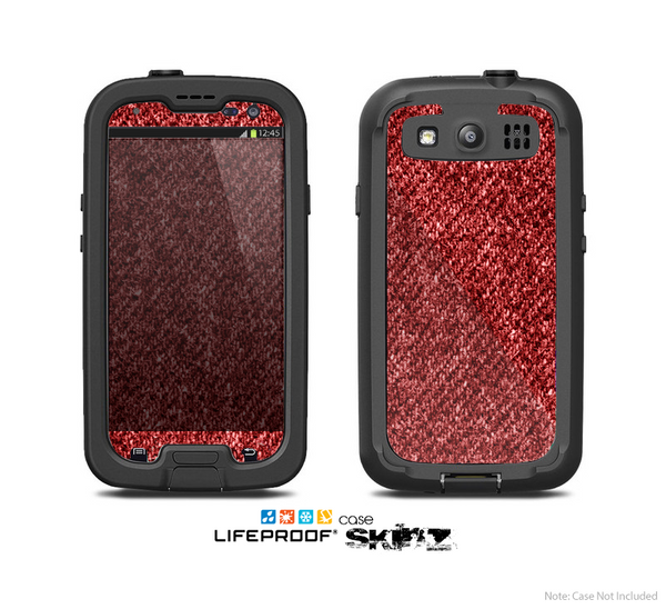 The Red Fabric Skin For The Samsung Galaxy S3 LifeProof Case