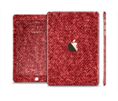 The Red Fabric Full Body Skin Set for the Apple iPad Mini 3