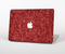"The Red Fabric Skin Set for the Apple MacBook Pro 15"" with Retina Display"