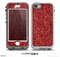 The Red Fabric Skin for the iPhone 5-5s NUUD LifeProof Case for the LifeProof Skin