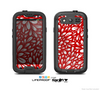 The Red Floral Sprout Skin For The Samsung Galaxy S3 LifeProof Case