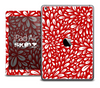 The Red Floral Sprout Skin for the iPad Air