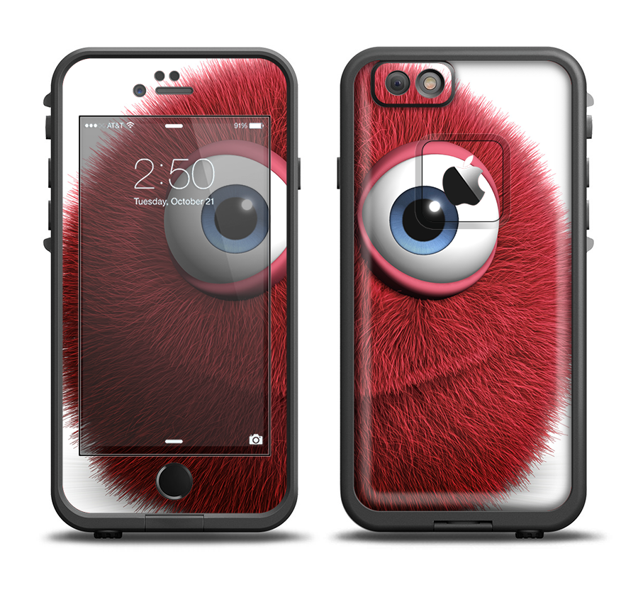 big sale 26fa4 198c5 The Red Fuzzy Wuzzy Apple iPhone 6 LifeProof Fre Case Skin Set