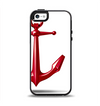 The Red Glossy Anchor Apple iPhone 5-5s Otterbox Symmetry Case Skin Set