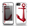 The Red Glossy Anchor Skin for the iPhone 5-5s OtterBox Preserver WaterProof Case