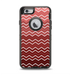 The Red Gradient Layered Chevron Apple iPhone 6 Otterbox Defender Case Skin Set