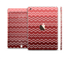 The Red Gradient Layered Chevron Full Body Skin Set for the Apple iPad Mini 3