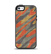 The Red, Green and Black Abstract Traditional Camouflage Apple iPhone 5-5s Otterbox Symmetry Case Skin Set