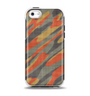 The Red, Green and Black Abstract Traditional Camouflage Apple iPhone 5c Otterbox Symmetry Case Skin Set
