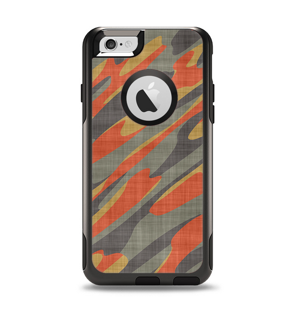 The Red, Green and Black Abstract Traditional Camouflage Apple iPhone 6 Otterbox Commuter Case Skin Set