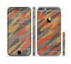 The Red, Green and Black Abstract Traditional Camouflage Sectioned Skin Series for the Apple iPhone 6