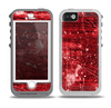The Red Grunge Paint Splatter Skin for the iPhone 5-5s OtterBox Preserver WaterProof Case