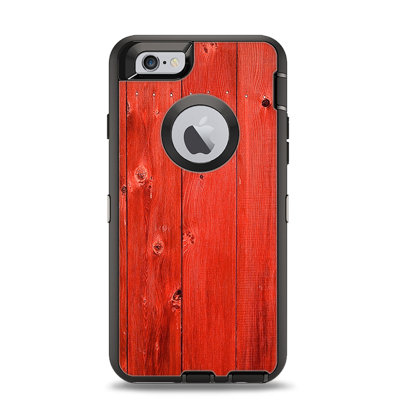 buy popular ac654 85e2b The Red Highlighted Wooden Planks Apple iPhone 6 Otterbox Defender Case  Skin Set