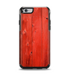 The Red Highlighted Wooden Planks Apple iPhone 6 Otterbox Symmetry Case Skin Set