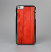 The Red Highlighted Wooden Planks Skin-Sert Case for the Apple iPhone 6 Plus