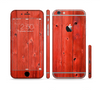 The Red Highlighted Wooden Planks Sectioned Skin Series for the Apple iPhone 6