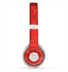 The Red Highlighted Wooden Planks Skin for the Beats by Dre Solo 2 Headphones
