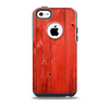 The Red Highlighted Wooden Planks Skin for the iPhone 5c OtterBox Commuter Case