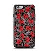 The Red Icon Flowers on Dark Swirl Apple iPhone 6 Otterbox Symmetry Case Skin Set