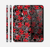 The Red Icon Flowers on Dark Swirl Skin for the Apple iPhone 6 Plus