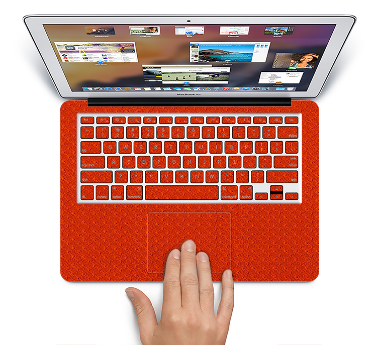 "The Red Jersey Texture Skin Set for the Apple MacBook Pro 15"" with Retina Display"
