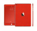 The Red Jersey Texture Full Body Skin Set for the Apple iPad Mini 3