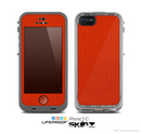 The Red Jersey Texture Skin for the Apple iPhone 5c LifeProof Case