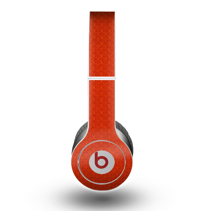 The Red Jersey Texture Skin for the Beats by Dre Original Solo-Solo HD Headphones