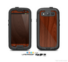 The Red Mahogany Wood Skin For The Samsung Galaxy S3 LifeProof Case