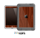 The Red Mahogany Wood Skin for the Apple iPad Mini LifeProof Case