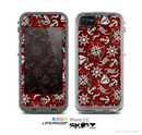 The Red Nautica Collage Skin for the Apple iPhone 5c LifeProof Case