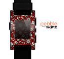 The Red Nautica Collage Skin for the Pebble SmartWatch
