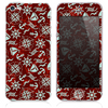 The Red Nautica Collage Skin for the iPhone 3, 4-4s, 5-5s or 5c