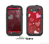 The Red Sketched Love Hearts Illustrastion Skin For The Samsung Galaxy S3 LifeProof Case